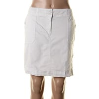 Karen Scott Womens Petites Poplin Knee-Length Skort