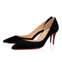 Iriza 70 Black Suede - Women Shoes - Christian Louboutin