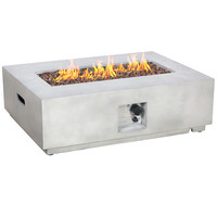 Rectangular Gas Concrete Fire Pit