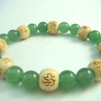 Feng Shui Beaded Bracelets: Aventurine - Attract Money, Luck & Love, The Abundance Stone