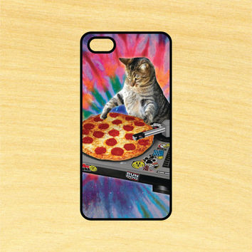 Dj Pizza Cat Version 3 iPhone 4/4S 5/5C 6/6+ and Samsung Galaxy S3/S4/S5 Phone Case