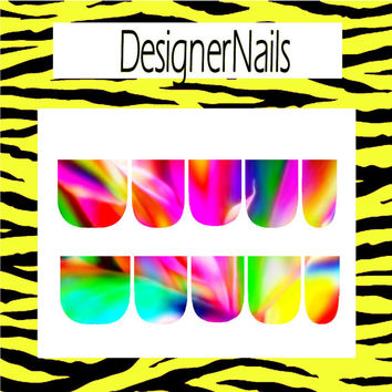 Whispy colors Nail Decal