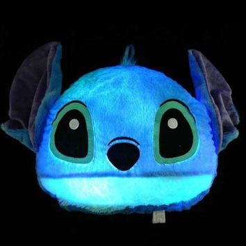 LED Stitch Shaped Light up Pillow Glowing Moonlight Cushion