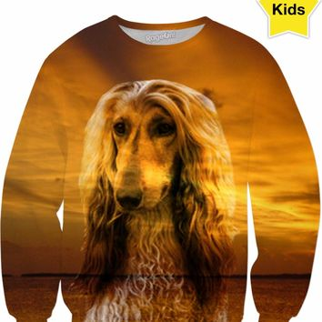 Dog Afghan Hound Kids Sweatshirt