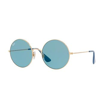 Oversized Round Ray Ban Rb 3592 001/f7 Janis Joplin Sunglasses - Beauty Ticks