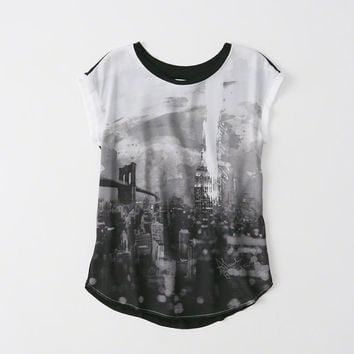 Womens Relaxed Crepe Tee | Womens Clearance | Abercrombie.com