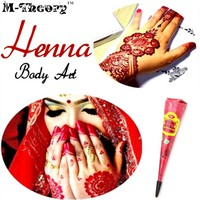Fashion Mehndi Henna Paste Cone Indian Temporary Tattoo Waterproof 100% Safe Multi Colors