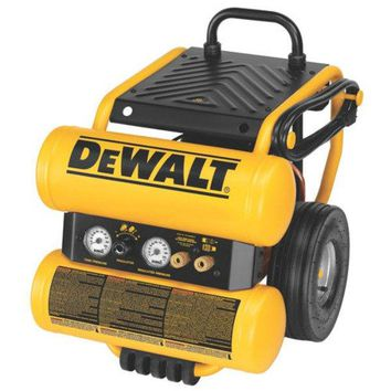 DeWalt® D55154 Electric Wheeled Dolly-Style Air Compressor with Panel, , 1.1 HP