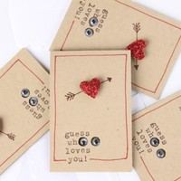 Valentine's Day Cards - Little Surprise Owl Love Notes (4) with envelopes, Love Cards, Love Notes, Love Note Cards