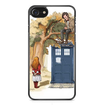 Alice In Wonderland And Tardis Doctor Who  iPhone 7 Case