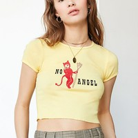 Truly Madly Deeply No Angel Cropped Tee | Urban Outfitters