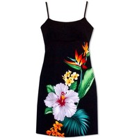 Tropicana Short Hawaiian Dress with Skinny Straps