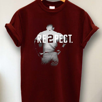 Respect Derek Jeter Re2pect Tshirt, Tshirt Men, Tshirt Women, Tshirt Girl, Men Tshirt, Girl Tshirt. tshirt size s -3xl