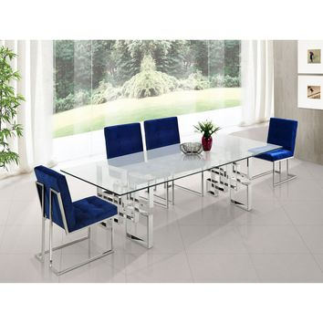 Meridian Furniture Inc Alexis Chrome Dining Table - Walmart.com