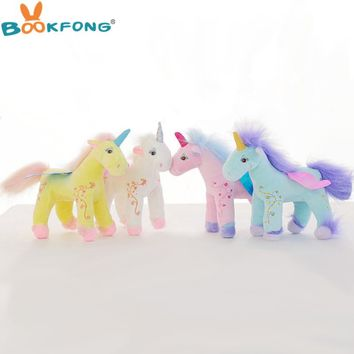 30cm Germany Angel Unicorn Plush Toy Flying Horse Cute Soft Unicorn Stuffed Animal Doll Birthday Gift Kids Gift