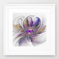 Energetic, Abstract Fractal Art Framed Art Print by Gabiw Art