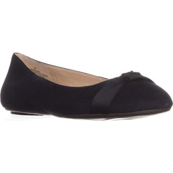 Nine West Benna Ballet Flats, Navy, 8 US