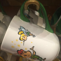 Disney Parks Peter Pan Tinker Bell Cartoon Cuties Ceramic Coffee Mug New
