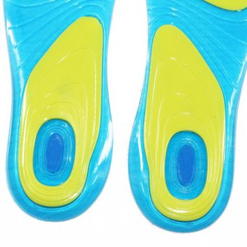 1 Pair Sport Insoles Silicone Gel Massaging Insoles Arch Support Orthopedic Plantar Fasciitis Running and  Basketball Insoles