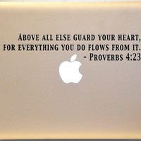 Macbook Proverbs 4:23 Bible Verse Decal Mac Laptop