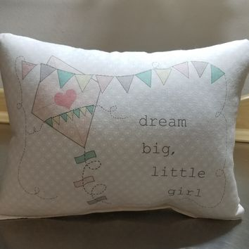 Kite throw pillow baby girl pillow pink cotton cushion newborn gifts
