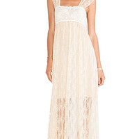 Free People Romance in the Air Dress in Cream