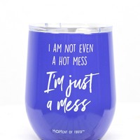 Hot Mess 12 oz Stainless Tumbler {Periwinkle}