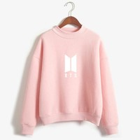 Women Letter Printed Fans Supportive BTS Album Hoodies & Sweatshirts Moletom