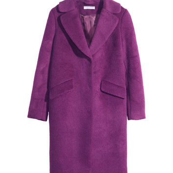 H&M - Wool Coat - Purple - Ladies