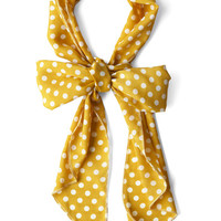 ModCloth Nautical Bow to Stern Scarf in Mustard Dots