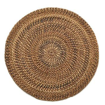 Shaded Rattan Placemat - S/2 Natural