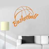 Vinyl Wall Decal Basketball Sports Fan Boy's Room Garage Stickers (ig2130)