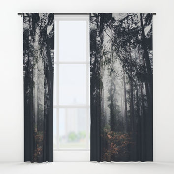 Dark paths Window Curtains by HappyMelvin
