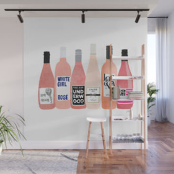 Rose Bottles Wall Tapestry by lindseykaynichols
