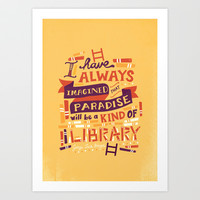 Library Art Print by Risa Rodil
