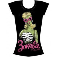Too Fast Zombie Barbie Burnout T Shirt