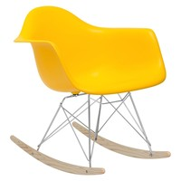 Rocker Lounge Chair in Yellow