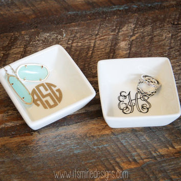 Monogrammed Ring or Jewelry Dish