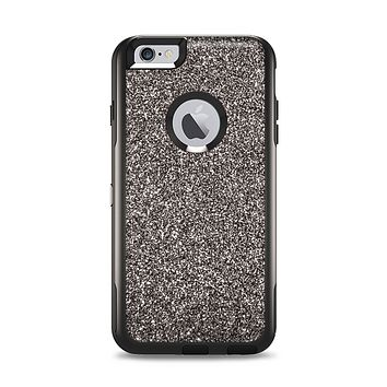 The Black Glitter Ultra Metallic Apple iPhone 6 Plus Otterbox Commuter Case Skin Set