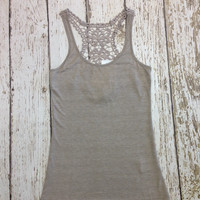 Lace Tank top in sand