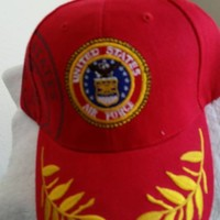 US Air Force Emblem and Shadow on a Red Ball cap w/free shipping