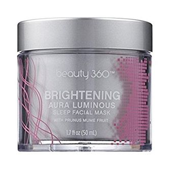 Beauty 360 Brightening Aura Luminosity Sleep Facial Mask, 1.7 OZ, Paraben, sulfate & phthalate free.