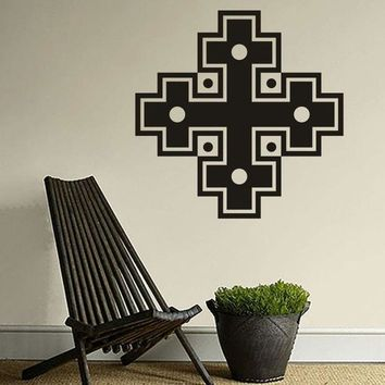 Combination Of Four Cross Tapy Decorative Stickers Muslim Culture Wall Stickers Home Decoration