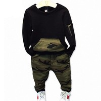Baby Boy Camouflage Shirt + Pant Outfits