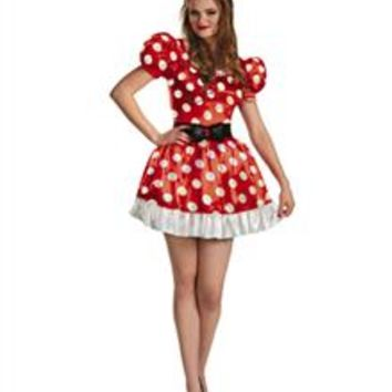 Disney Red Minnie Mouse Classic Adult Plus Size Costume