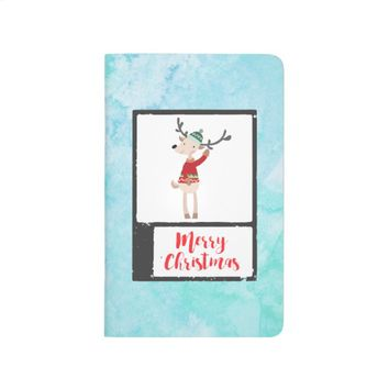 Christmas Reindeer In An Ugly Sweater Whimsical Journal
