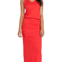 Bobi Supreme Maxi Dress in Orange