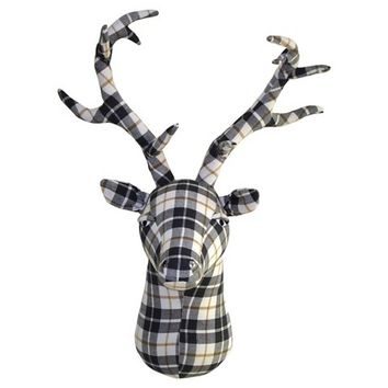 Plaid Felt Stag Head - Threshold™