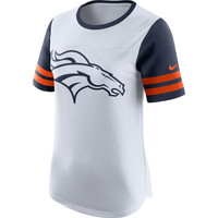Women's Denver Broncos Nike White Gear Up Modern Fan Performance T-Shirt
