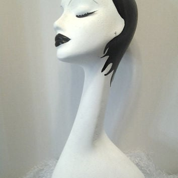 Hand Painted White Long Neck Styrofoam Mannequin Display, 19 inches Tall , Made to Order